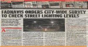 Raised illumination issue of Mumbai
