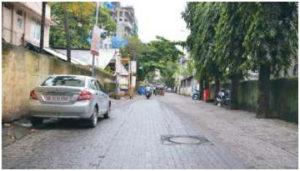 Road works at Upashray Lane and Andheri Cooprative Soc1